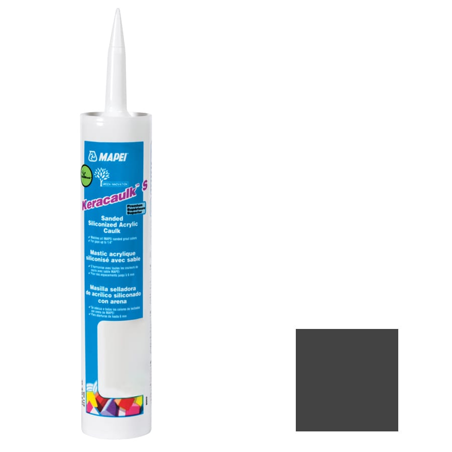 MAPEI Keracaulk S 10.5-oz Black Sanded Paintable Caulk