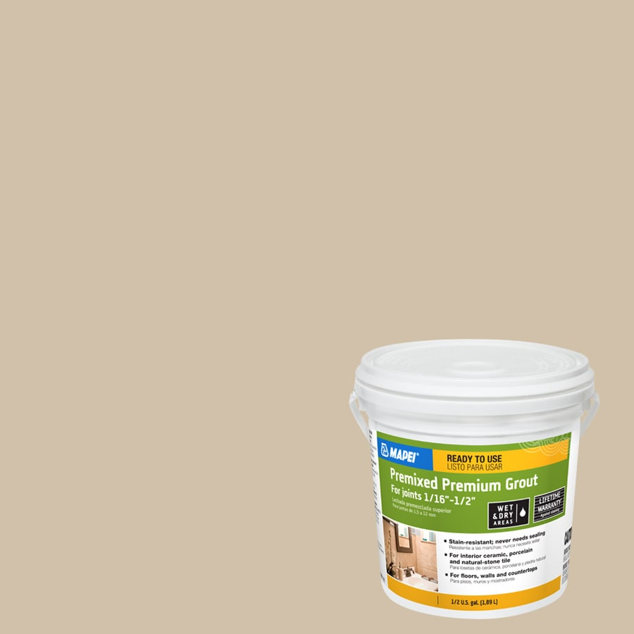 MAPEI 0.5-Gallon Bone Sanded Premixed Grout