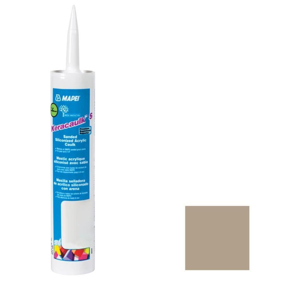 MAPEI Keracaulk S 10.5-oz Navajo Brown Sanded Paintable Siliconized Acrylic Specialty Caulk