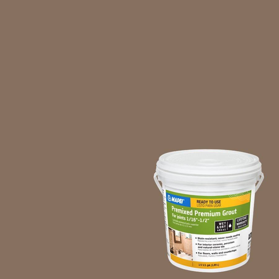 Shop Mapei 0 5 Gallon Mocha Sanded Grout At Lowes Com