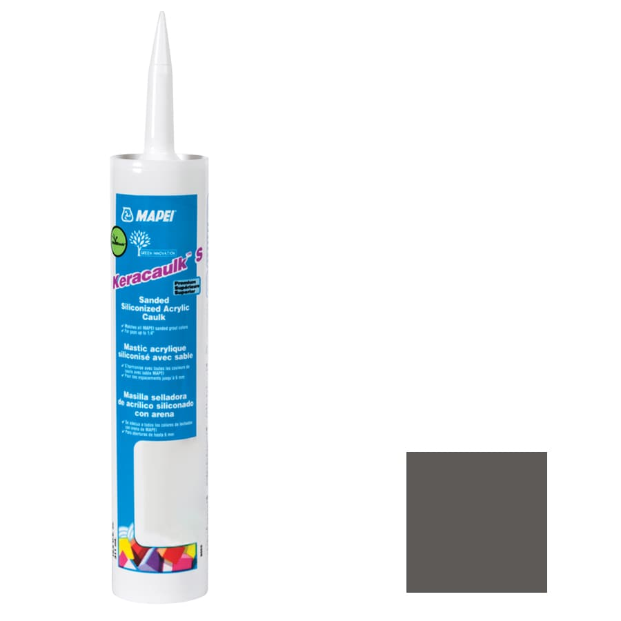 MAPEI Keracaulk S 10.5-oz Charcoal Sanded Paintable Caulk
