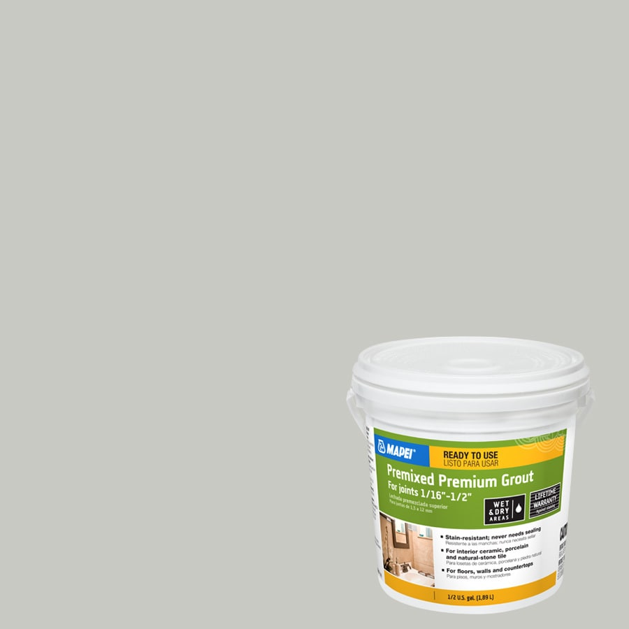 Mapei 0 5 Gallon Warm Gray Sanded Grout
