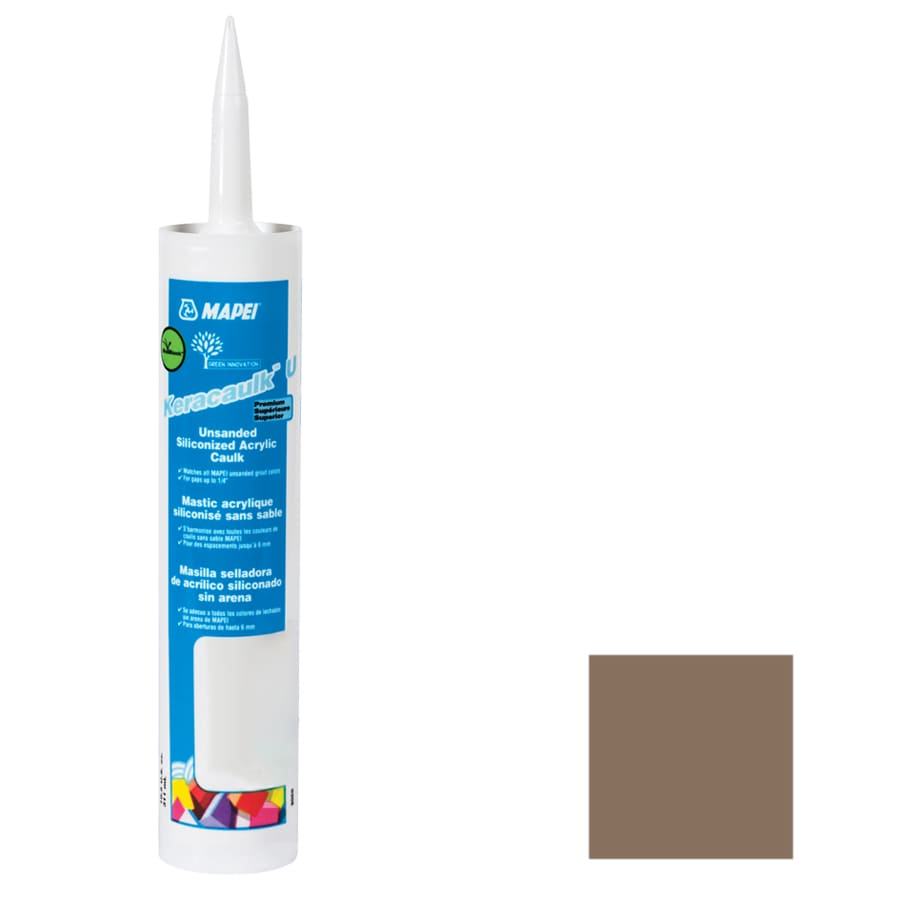 MAPEI Keracaulk U 10.5-oz Mocha Paintable Siliconized Acrylic Specialty Caulk