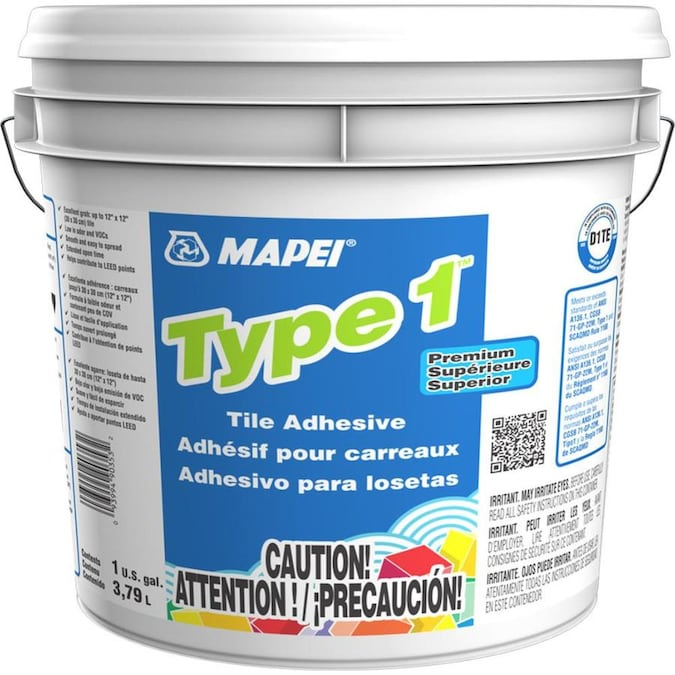Mapei Type 1 Ceramic Tile Mastic Gallon In The Flooring