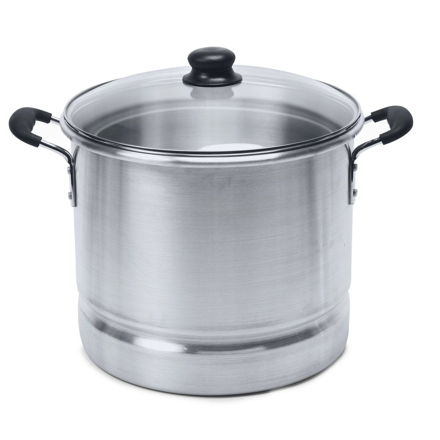 IMUSA 24-Quart Aluminum Steamer Pot with Lid and Basket