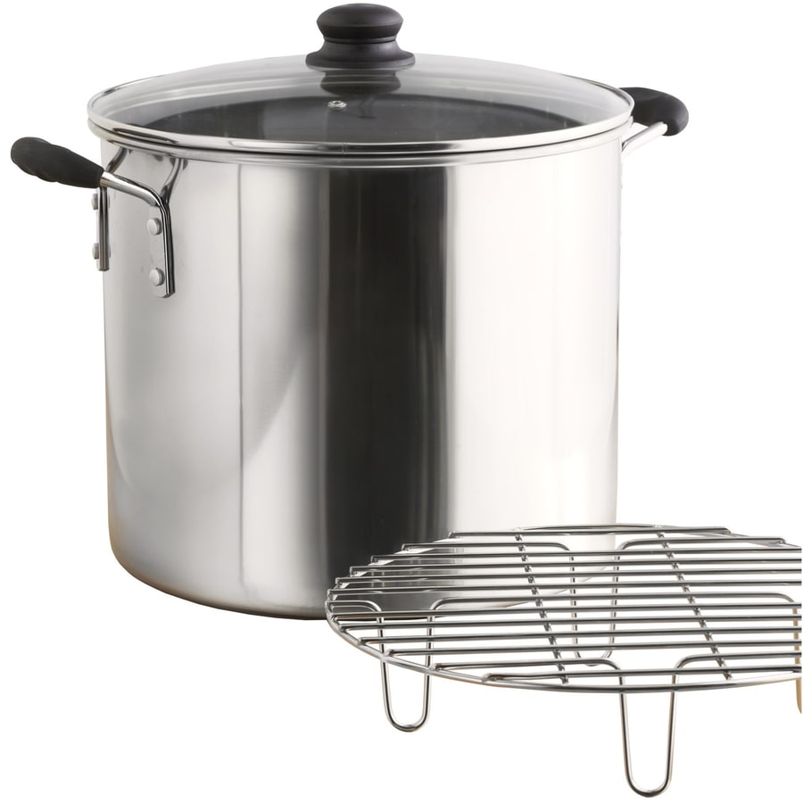 IMUSA Global Kitchen 8-Quart Stainless Steel Steamer Pot with Lid and Basket