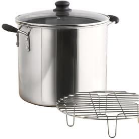 IMUSA Global Kitchen 8 Quart Stainless Steel Steamer Pot Lid(s) Included  Basket