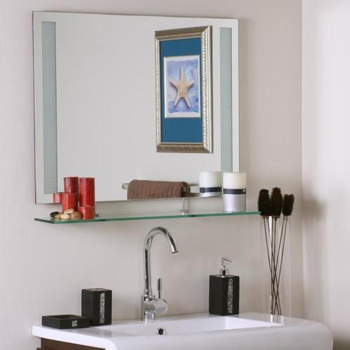 31.5-in Rectangular Frameless Bathroom Mirror