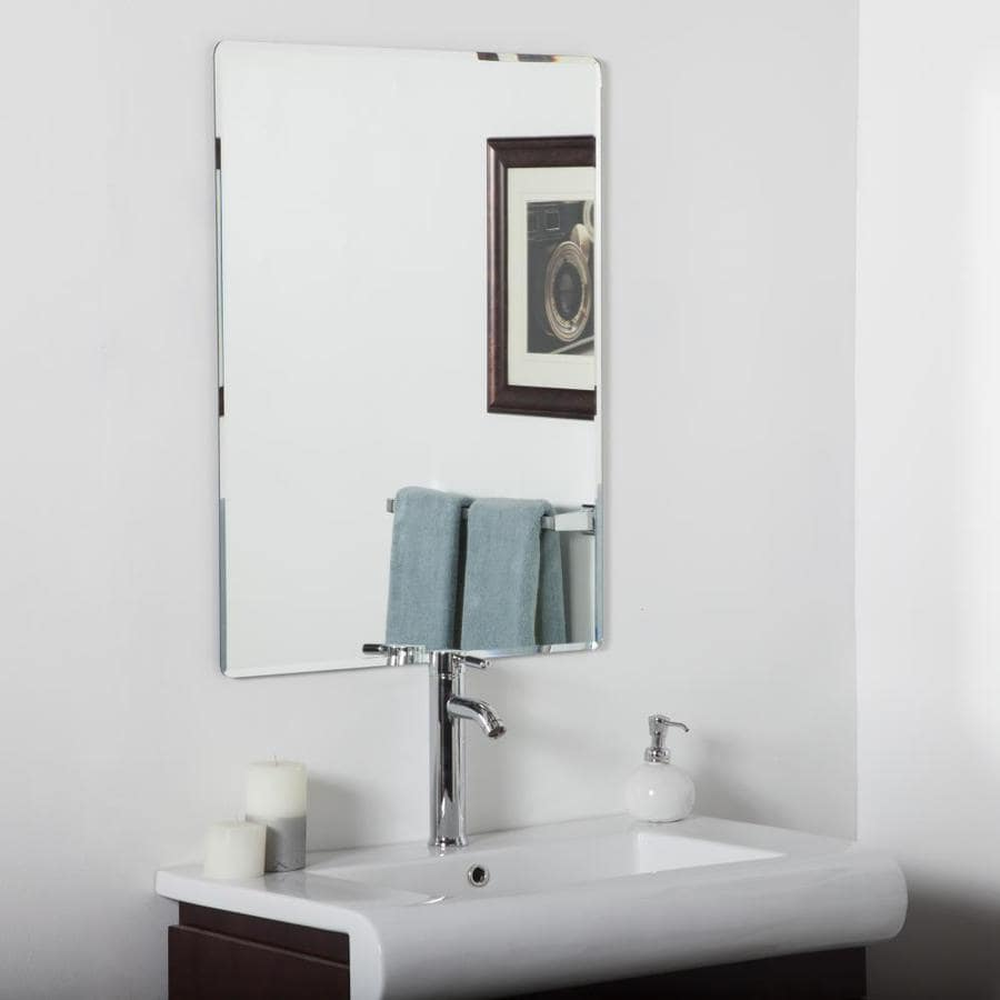 Decor Wonderland 12.12-in Rectangular Frameless Bathroom Mirror