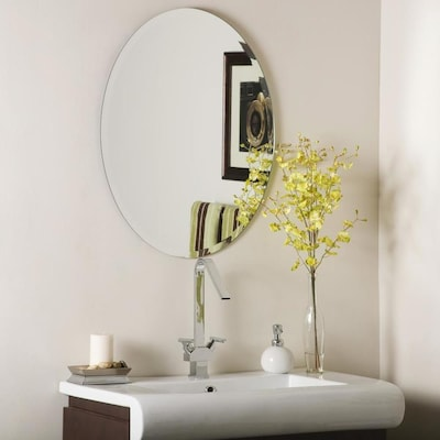 22 In Oval Frameless Bathroom Mirror