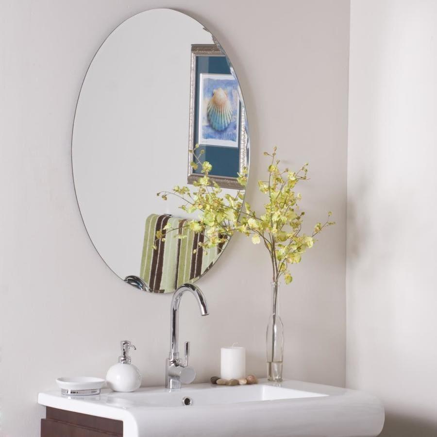 Decor Wonderland 23.6-in Oval Frameless Bathroom Mirror at ...