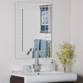 marvelous decor wonderland amelia modern bathroom mirror | Bathroom Mirrors at Lowes.com