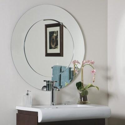 35 In Round Frameless Bathroom Mirror