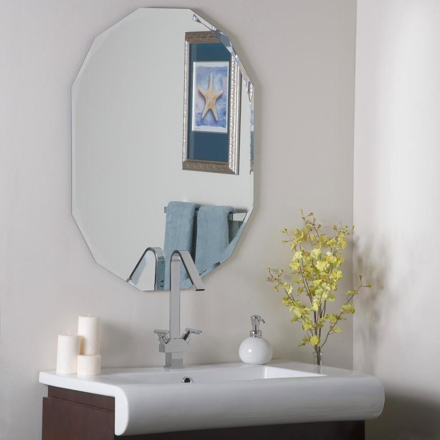 Decor Wonderland Diamond 23.6 In X 31.5 In Oval Frameless Bathroom Mirror