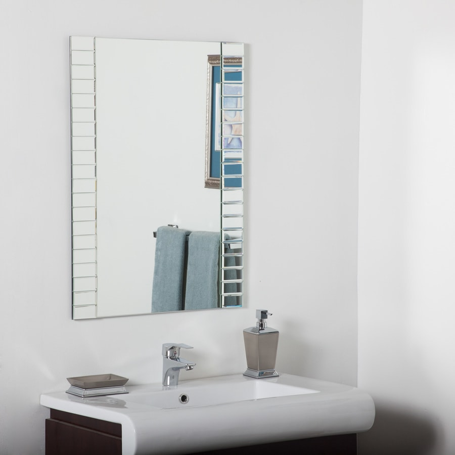 Decor Wonderland 12.12-in Rectangular Frameless Bathroom Mirror in