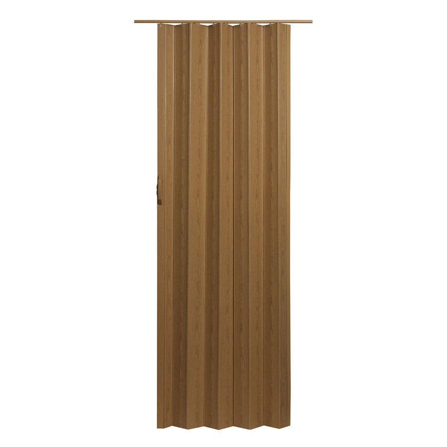 Shop Spectrum Via Oak Vinyl Accordion Door With Hardware Common 36
