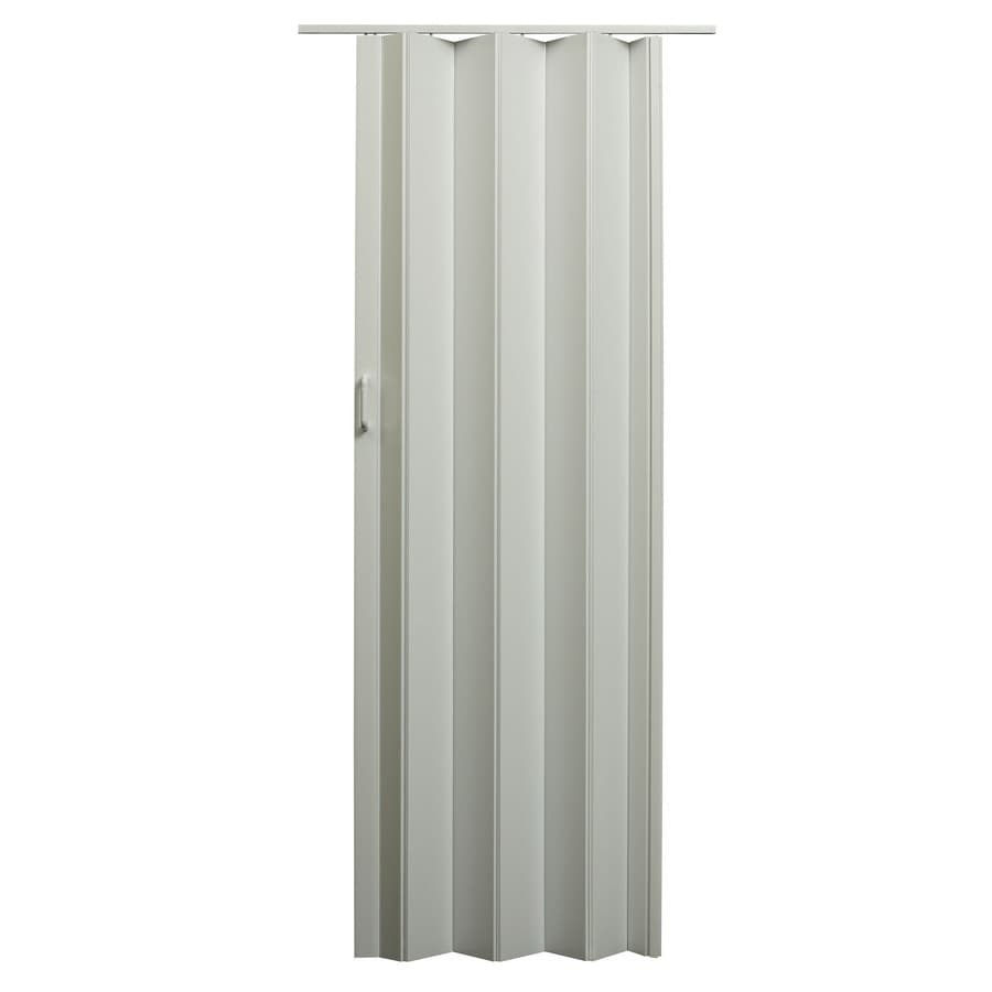 Shop spectrum encore white 1 panel accordion interior door for Accordion doors