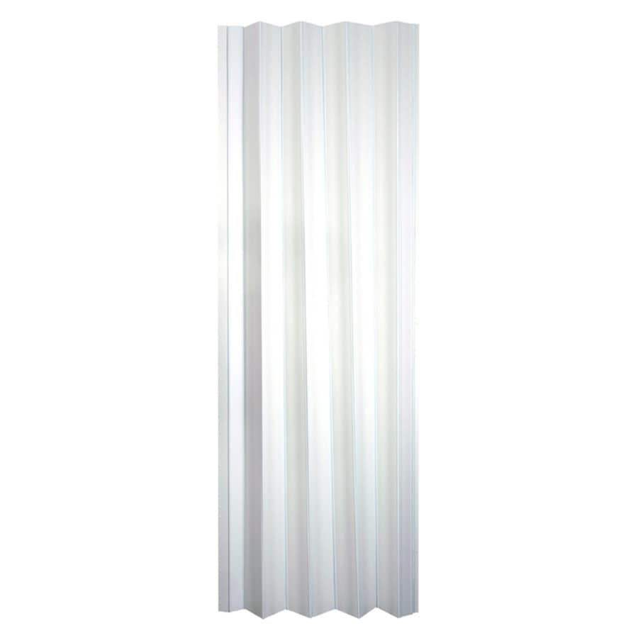 Shop Spectrum Via White Vinyl Accordion Door With Hardware Common