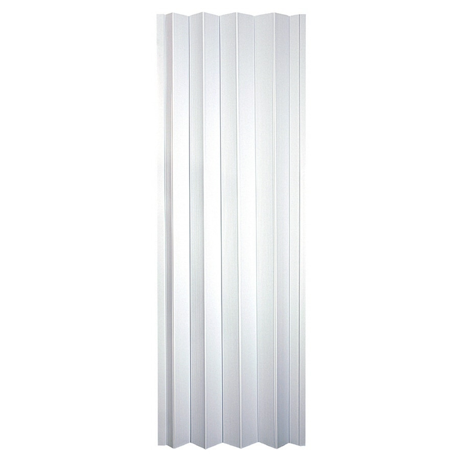 Spectrum Frost White Pvc Accordion Door With Hardware