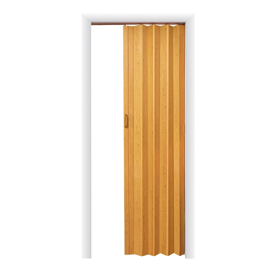 Spectrum Oakmont Oak Hollow Core Vinyl Accordion Interior Door with Hardware (Common: 48-in x 96-in; Actual: 49.5-in x 95.75-in)