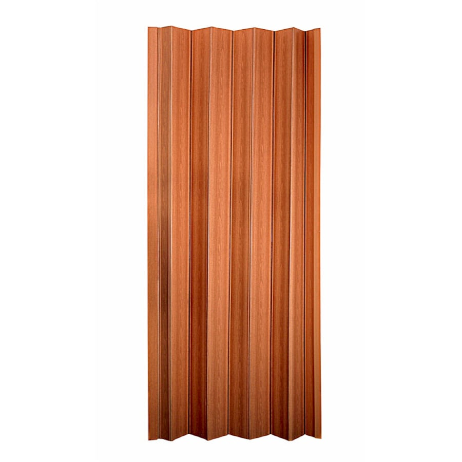 Shop spectrum oakmont pecan hollow core 1 panel accordion for Accordion doors