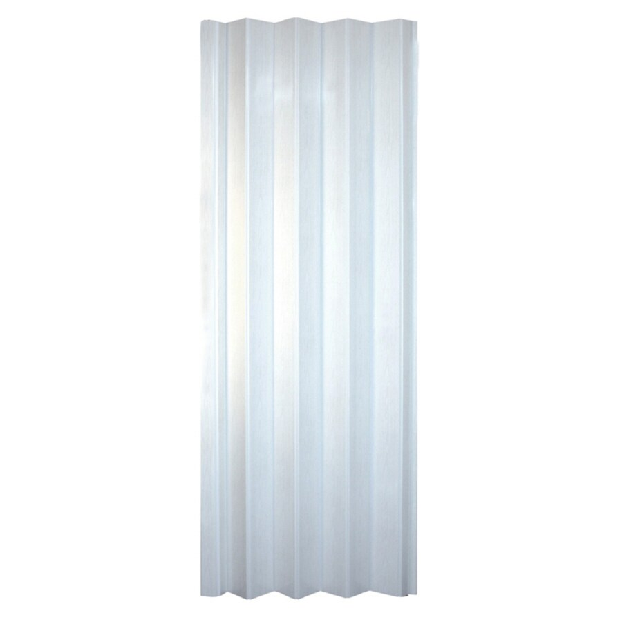 Glass interior doors lowes - Spectrum Via White 1 Panel Accordion Interior Door Common 36 In X