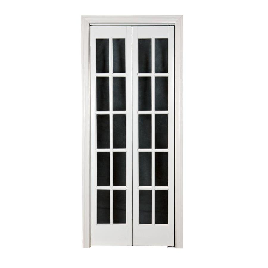 Pinecroft Classic French White Solid Core 10-Lite Pine Bi-Fold Closet Interior Door (Common: 24-in x 80-in; Actual: 23.5-in x 78.625-in)
