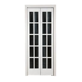 Pinecroft Clic French Prefinished White Pine Wood 2 Panel Square Bifold Door Hardware