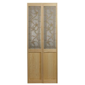 Attirant Pinecroft Tuscany Solid Core Patterned Glass Pine Bi Fold Closet Interior  Door With Hardware
