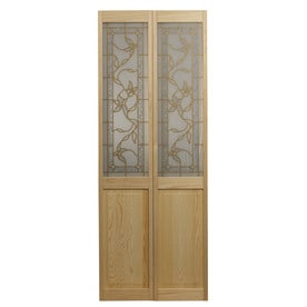 Pinecroft Tuscany Unfinished Pine Wood 2 Panel Square Bifold Door With Hardware