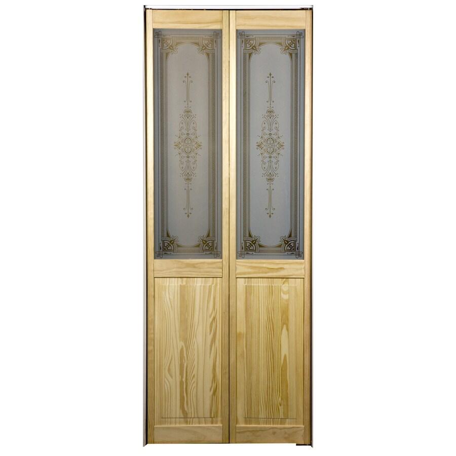 Pinecroft 1-Lite Solid Core Pine Bifold Closet Door (Common: 36-in x 80.5-in; Actual: 35.5-in x 78.625-in)