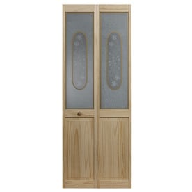 Pinecroft Victorian Unfinished Pine Wood 2 Panel Square Bifold Door Hardware Included
