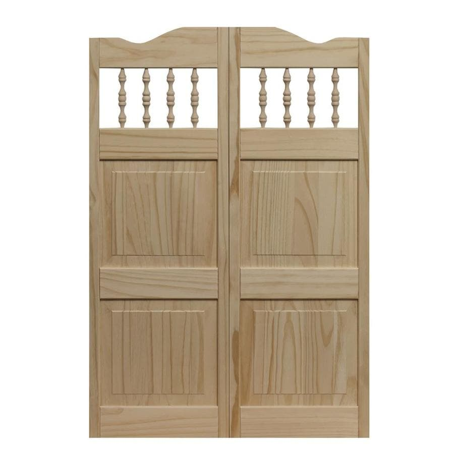 Pinecroft Royal Orleans Solid Core 2-Panel Square Pine Cafe Interior Door (Common: 30-in x 42-in; Actual: 30-in x 42-in)