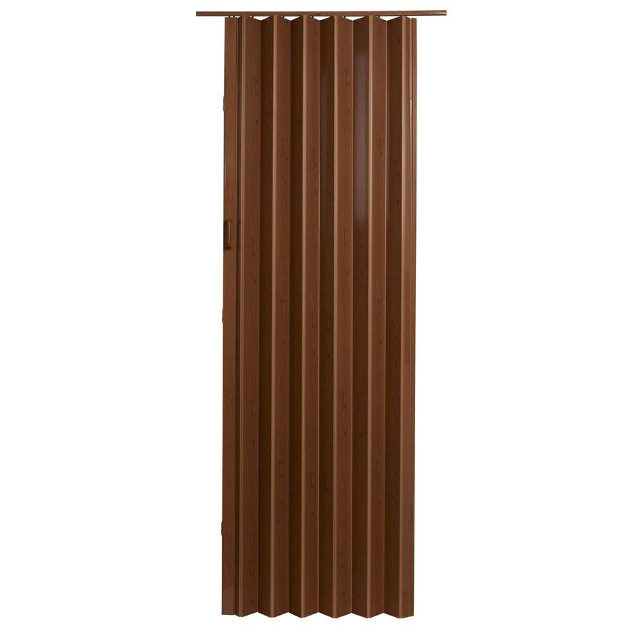 Spectrum Oakmont Pecan Hollow Core 1-Panel Accordion Interior Door (Common: 36-in x 96-in; Actual: 37.5-in x 95.75-in)