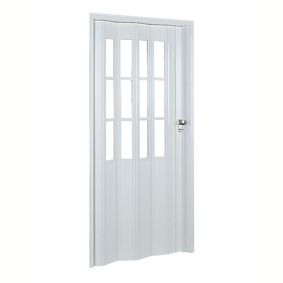 Spectrum Capri White Hollow Core Vinyl Accordion Interior Door with Hardware (Common: 32-in x 80-in; Actual: 33.85-in x 80.75-in)