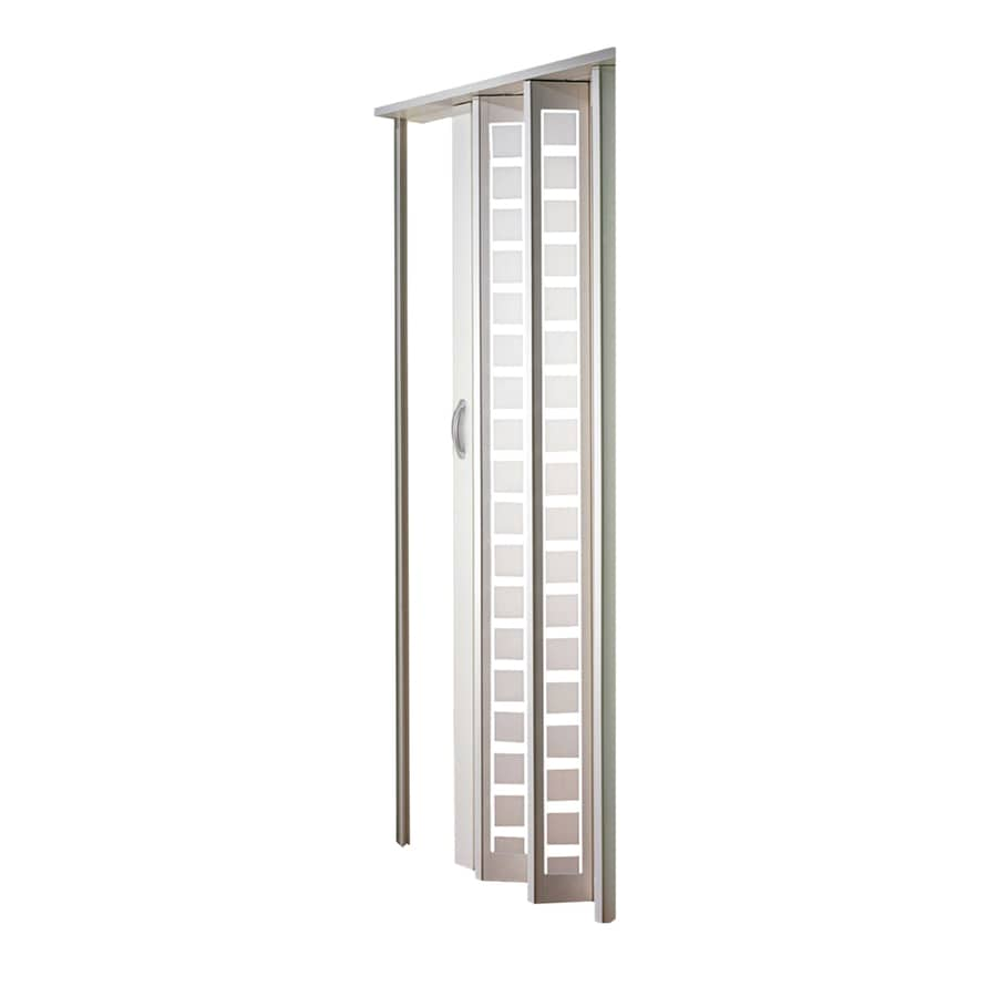 Shop Spectrum Metro White Vinyl Accordion Door With Hardware Common