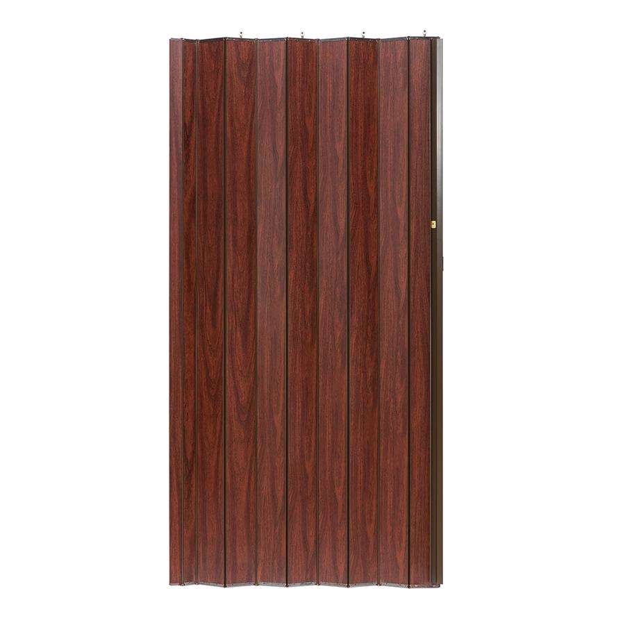 Shop Spectrum Woodshire Brown Mdf Accordion Door With Hardware