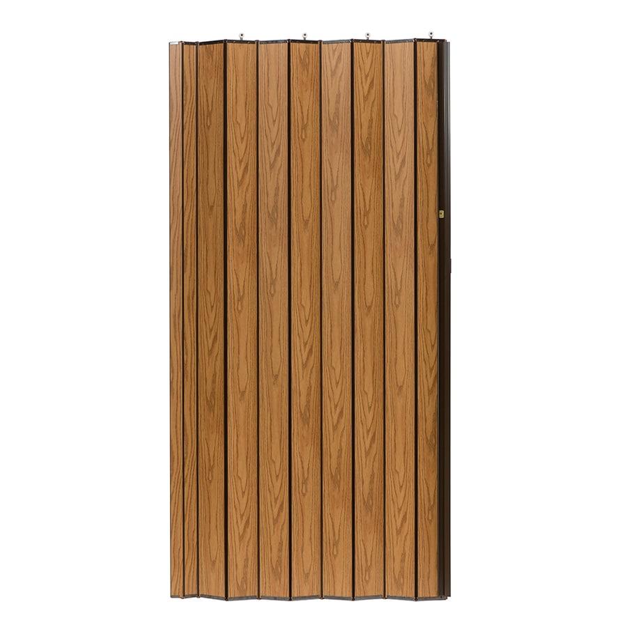 Spectrum Woodshire Oak Solid Core 1-Panel Accordion Interior Door (Common: 48-in x 80-in; Actual: 49-in x 79.375-in)