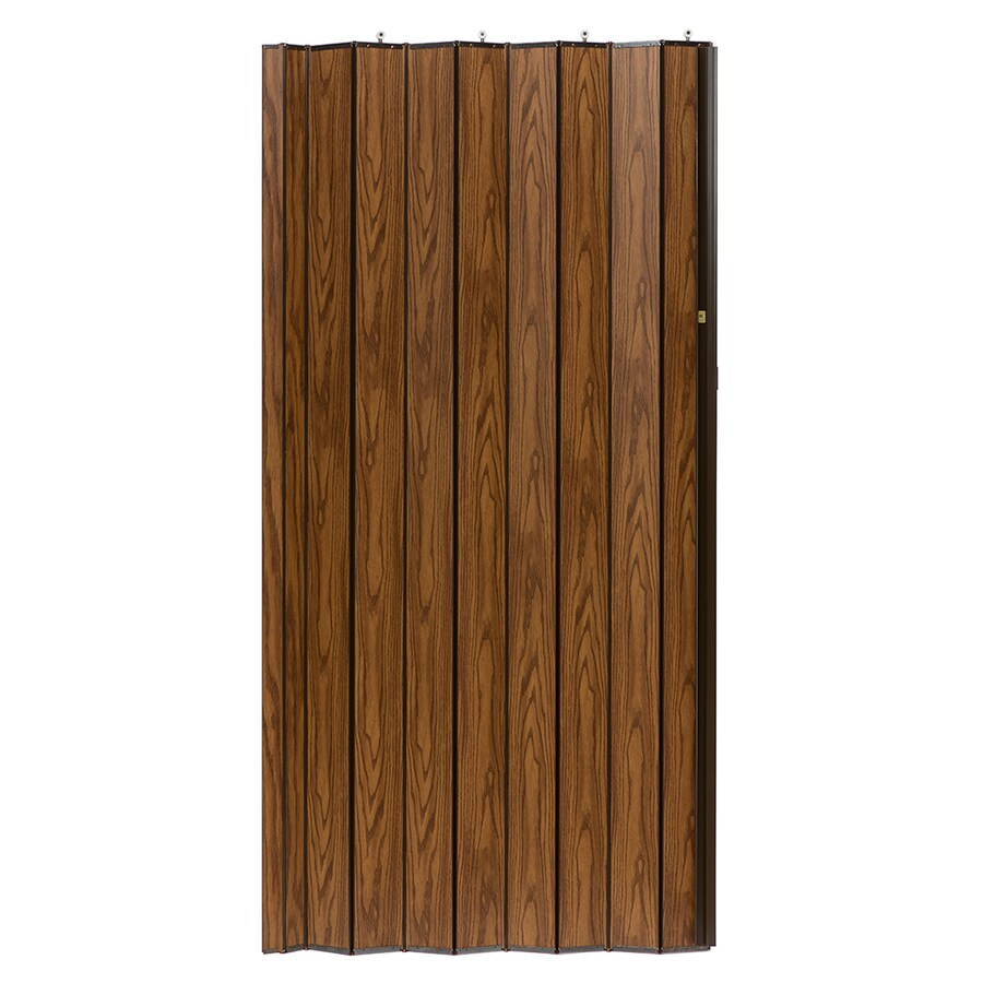 Spectrum Woodshire Oak Solid Core 1-Panel Accordion Interior Door (Common: 36-in x 96-in; Actual: 36.25-in x 95.375-in)