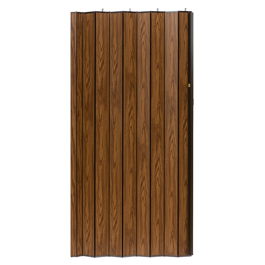 Shop Spectrum Woodshire Oak Solid Core 1 Panel Accordion Interior Door Common 36 In X 96 In