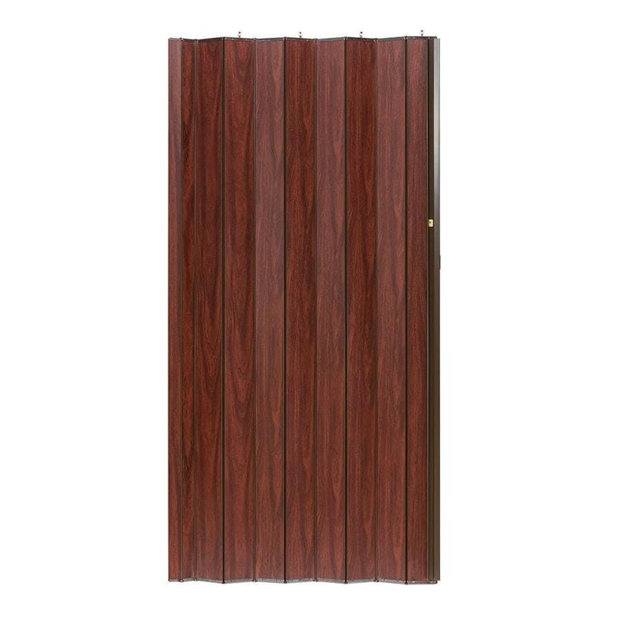 Spectrum Shire Brown Solid Core MDF Accordion Interior Door with Hardware (Common: 36-in x 96-in; Actual: 36.25-in x 95.375-in)