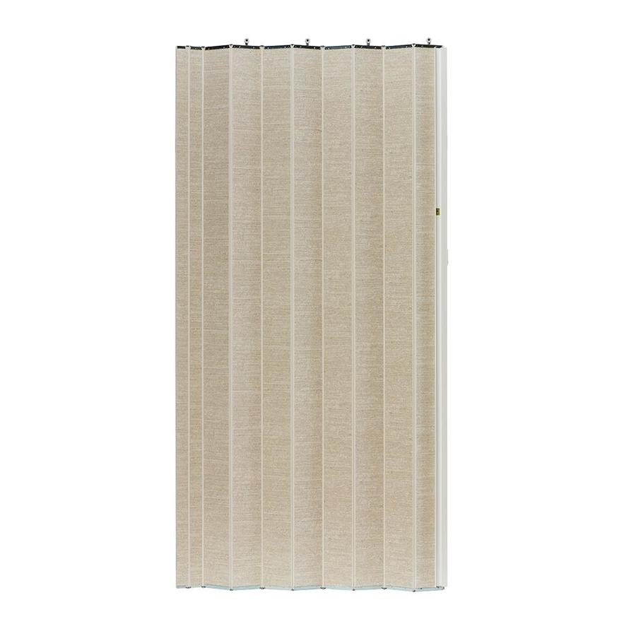 Spectrum Woodshire White Solid Core 1-Panel Accordion Interior Door (Common: 48-in x 96-in; Actual: 49-in x 95.375-in)