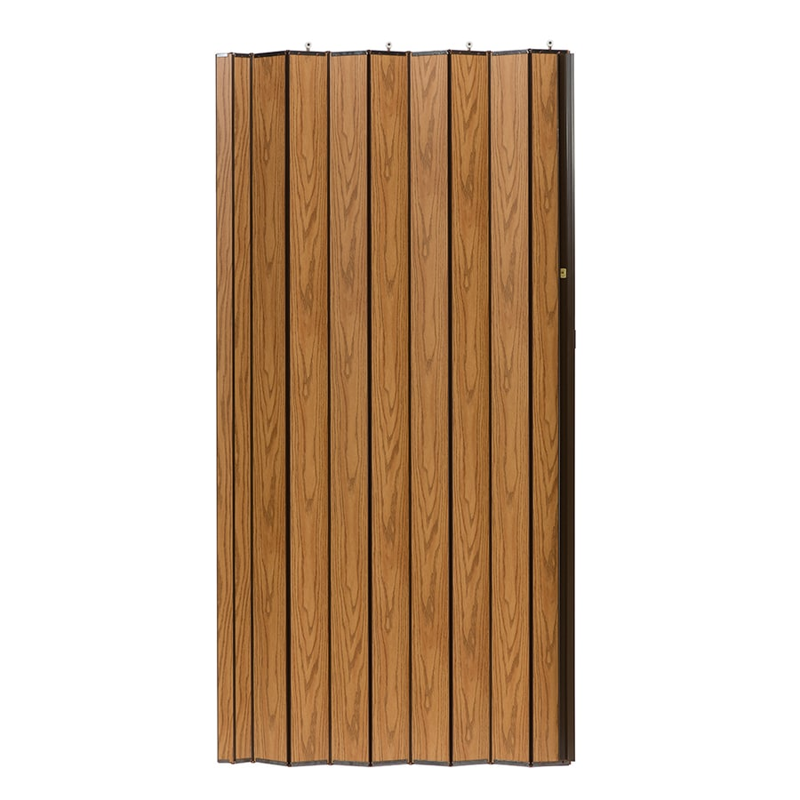 Spectrum Woodshire Oak Solid Core 1-Panel Accordion Interior Door (Common: 48-in x 96-in; Actual: 49-in x 95.375-in)