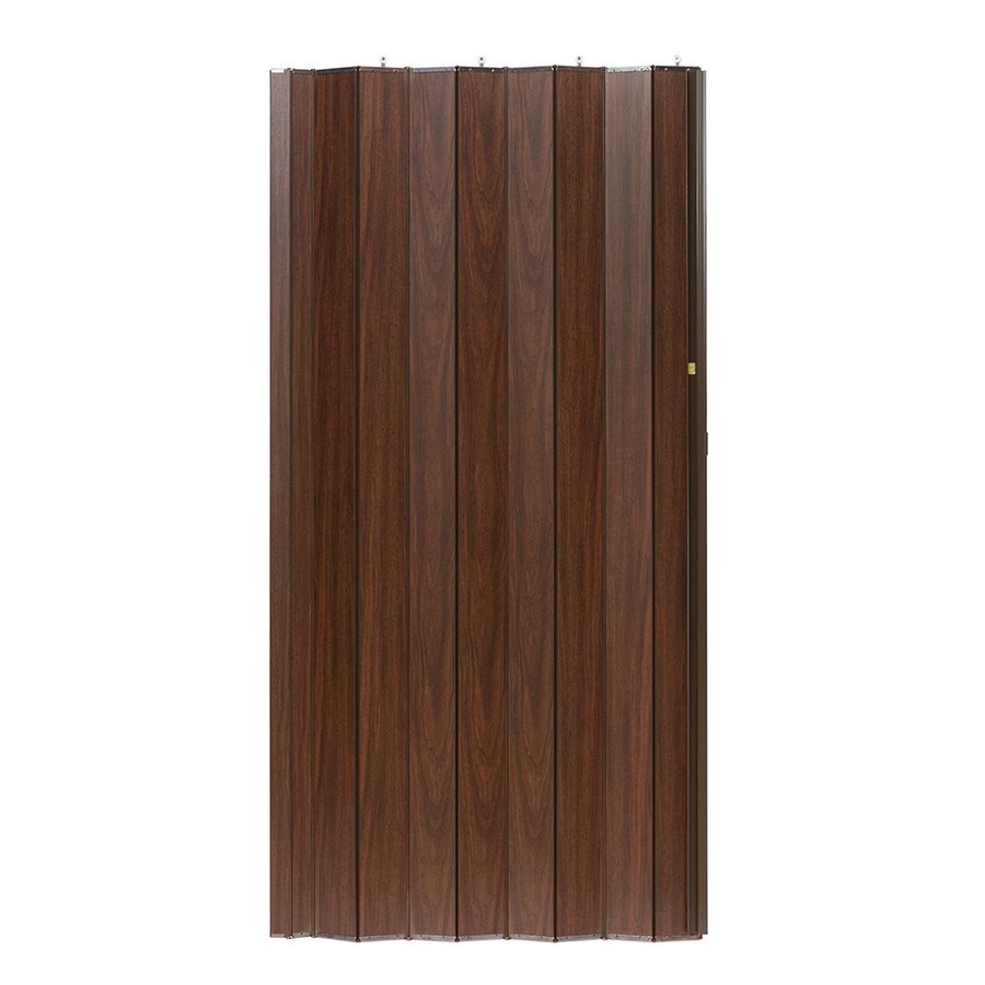 Spectrum Woodshire Brown Solid Core 1-Panel Accordion Interior Door (Common: 48-in x 96-in; Actual: 49-in x 95.375-in)