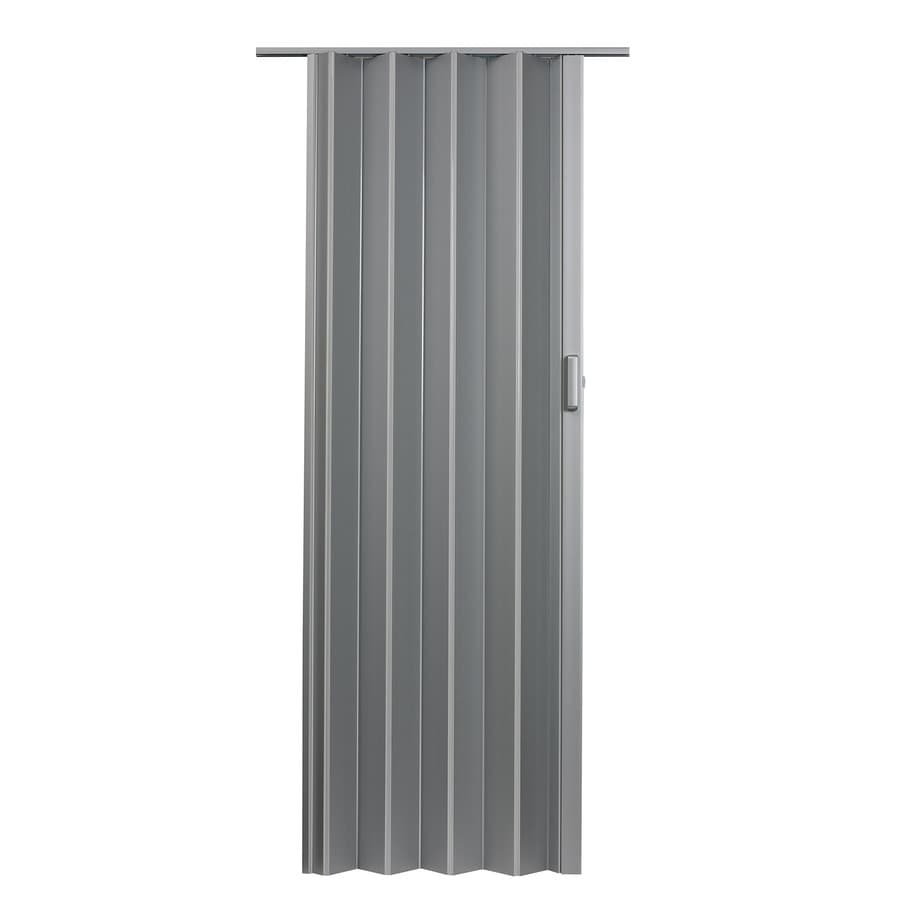 Shop Spectrum Elite Satin Silver Pvc Accordion Door With
