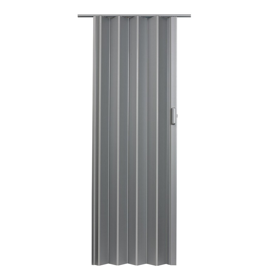 Spectrum Elite Satin Silver Hollow Core PVC Accordion Interior Door with Hardware (Common: 36-in x 96-in; Actual: 37.5-in x 95.75-in)