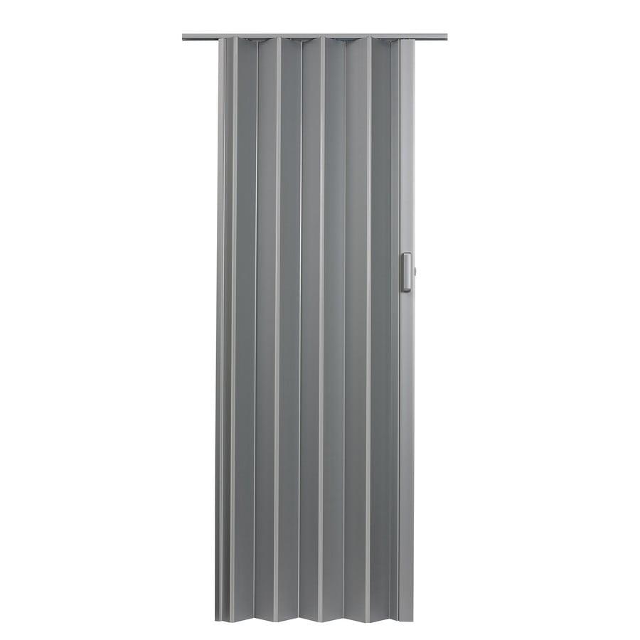 Spectrum Elite Satin Silver Hollow Core PVC Accordion Interior Door with Hardware (Common: 48-in x 96-in; Actual: 49.5-in x 95.75-in)