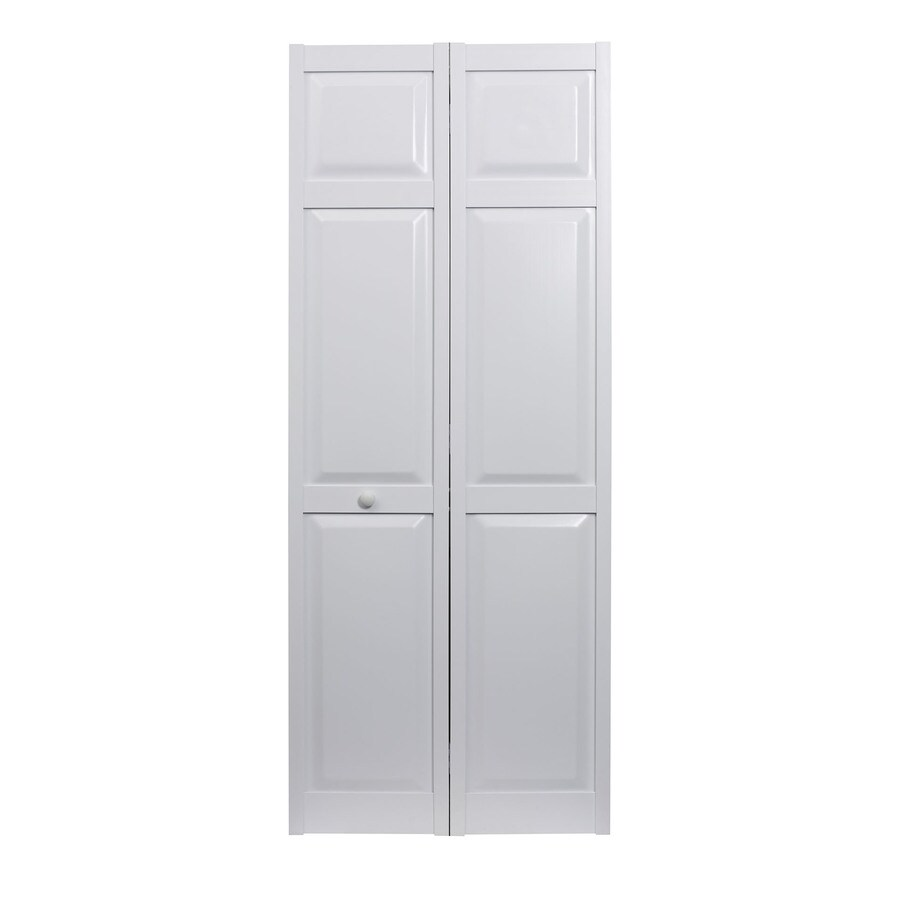 Shop Pinecroft Seabrooke White Hollow Core 6 Panel Bi Fold Closet Interior Door Common 36 In X
