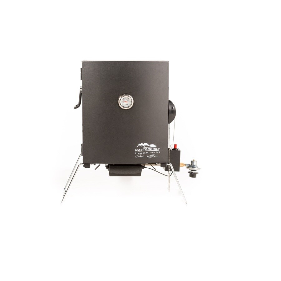 Masterbuilt JMSS 20-lb Cylinder Piezo Ignition Gas Vertical Smoker (Common: 23.15-in; Actual: 23.15-in)