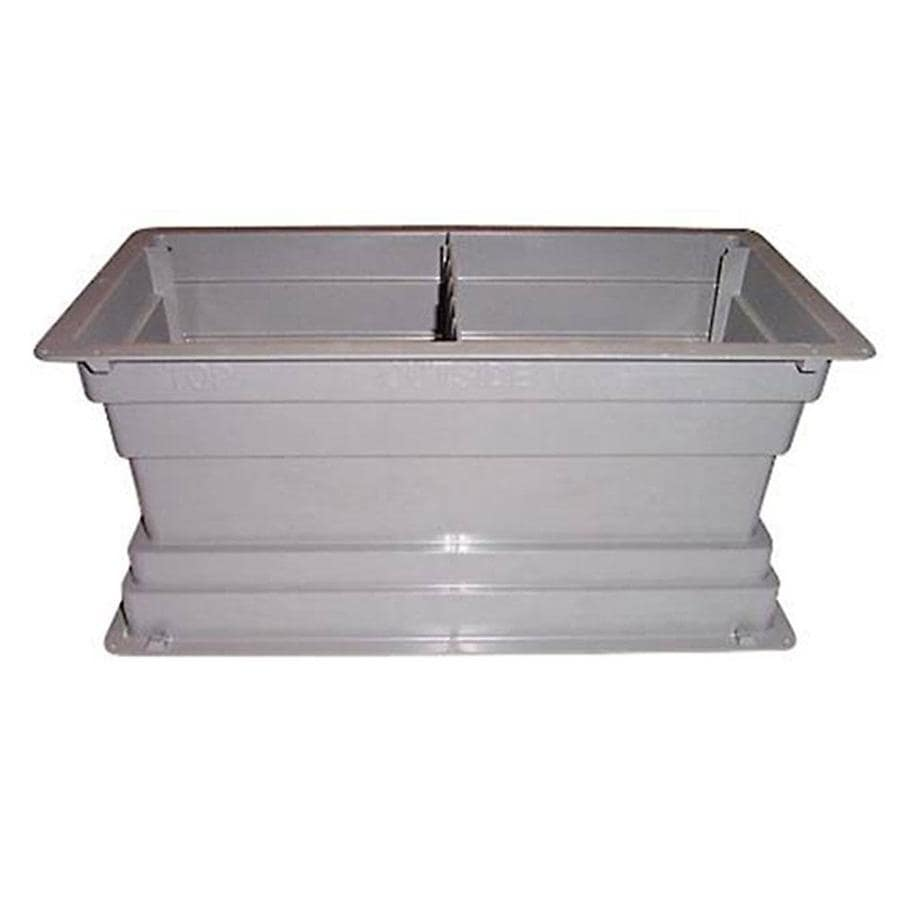 Construction Metals Inc. 8-in x 16-in Plastic Foundation Vent